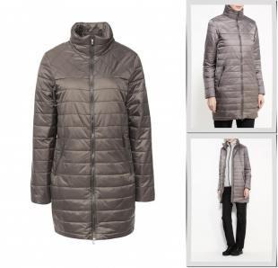 Серые пальто, пальто утепленное luhta, осень-зима 2016/2017