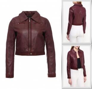Бордовые куртки, куртка кожаная urban bliss, весна-лето 2016