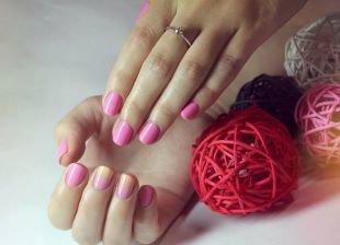 Маникюр на очень коротких ногтях, красивые идеи маникюра с покрытием шеллаком