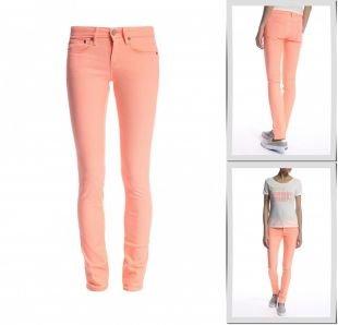 Оранжевые джинсы, джинсы roxy, весна-лето 2015