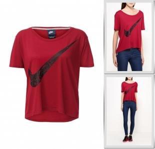 Бордовые футболки, футболка nike, осень-зима 2016/2017