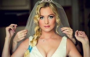 Свадебный макияж, нежный свадебный макияж для голубоглазых блондинок