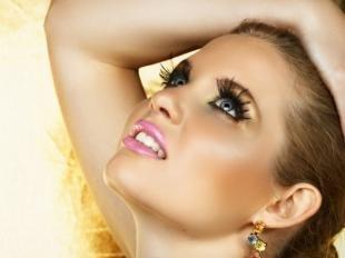 Восточный макияж для голубых глаз, яркий макияж на корпоратив