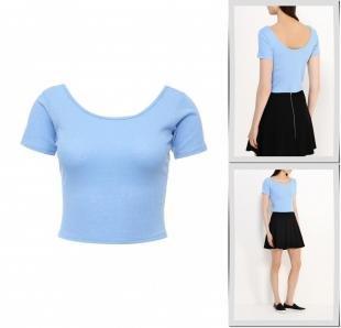 Голубые футболки, футболка befree, весна-лето 2016