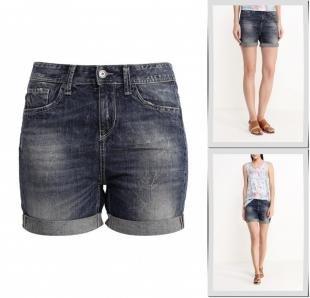Синие шорты, шорты джинсовые united colors of benetton, весна-лето 2016