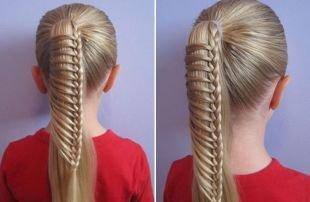 Прическа колосок на длинные волосы, необычная прическа в школу