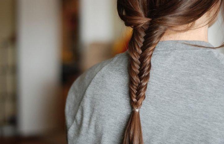 Рыбий хвост - прически на длинные волосы