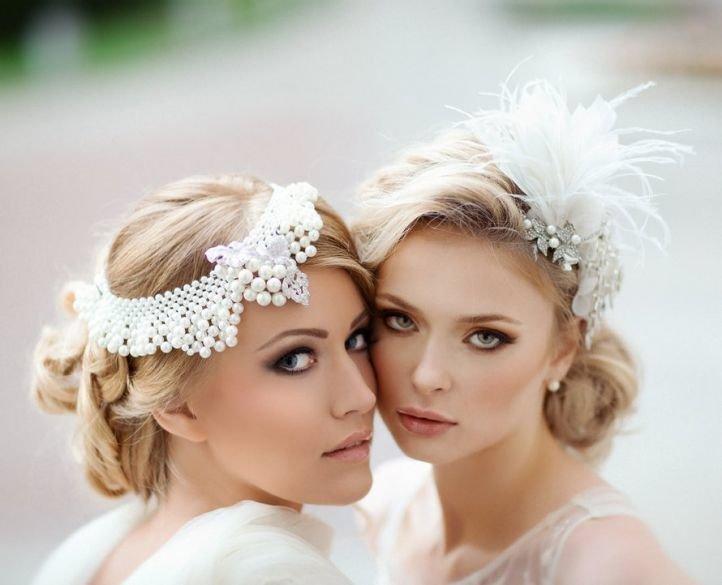 Свадебная прическа на длинные волосы в ретро-стиле