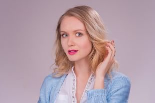 Макияж для блондинок с голубыми глазами, макияж для романтической встречи