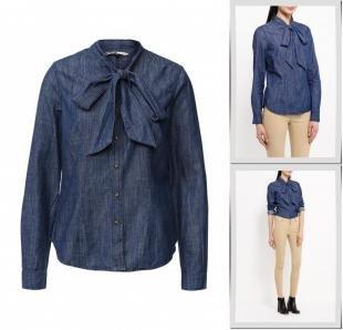 Синие блузки, блуза concept club, осень-зима 2016/2017