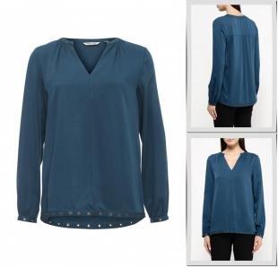 Синие блузки, блуза naf naf, осень-зима 2016/2017