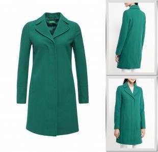 Зеленые пальто, пальто united colors of benetton, осень-зима 2016/2017