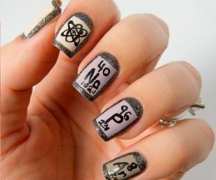 Серый маникюр, дизайн ногтей в школу