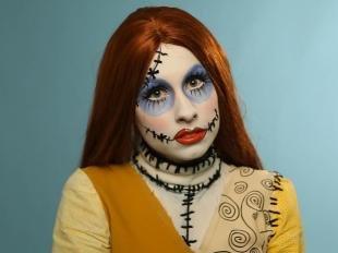 Макияж для голубых глаз на хэллоуин, оригинальный макияж для хэллоуина