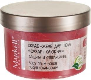 "Скраб для тела Белорусская косметика, markell natural line скраб-желе для тела ""сахар+клюква"", 280 г"
