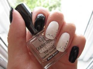 Черно-белый дизайн ногтей, простой дизайн ногтей для начинающих
