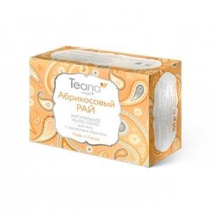 Абрикосовый скраб, teana абрикосовый рай натуральное мыло-скраб для лица и тела с косточками абрикоса, 100 гр