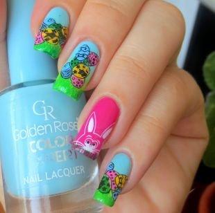 Рисунки на ногтях, яркие идеи пасхального маникюра