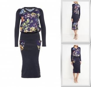 Фиолетовые платья, платье xarizmas, осень-зима 2016/2017
