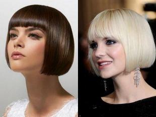 Стрижки и прически для тонких волос на короткие волосы, стрижки и прически для тонких волос - короткое каре с прямыми линиями