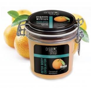 """Скраб после эпиляции, organic shop скраб для тела детокс экспресс очищающий """"сахарный мандарин"""""""