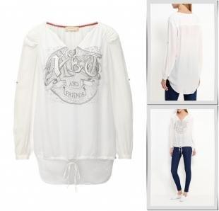 Белые блузки, блуза met, осень-зима 2016/2017