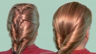 Цвет волос натуральный блондин, повседневные прически для волос средней длины