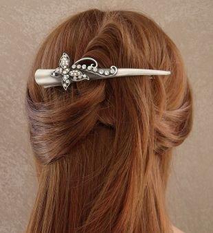 """Золотисто каштановый цвет волос на средние волосы, очаровательная """"мальвинка"""" на первый звонок"""