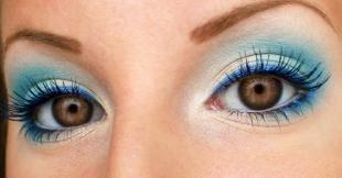 Макияж на выпускной для рыжих, голубой макияж для карих глаз