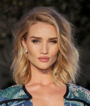 Цвет волос натуральный блондин на средние волосы, пышная укладка тонких волос