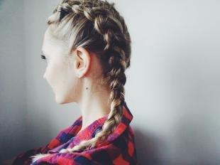 Стрижки и прически на длинные волосы, прическа с косами для девушек