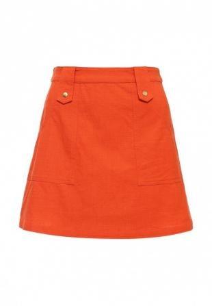 Оранжевые юбки, юбка topshop, осень-зима 2016/2017