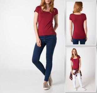 Бордовые футболки, футболка defacto,
