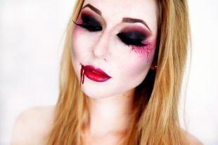 Легкий макияж на хэллоуин, макияж вампирши на хэллоуин