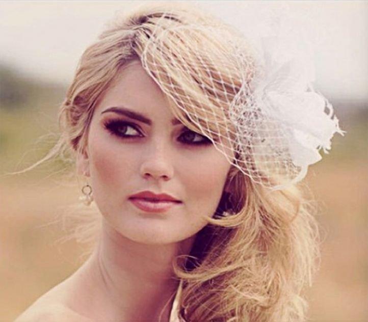 Свадебный макияж для кареглазых блондинок