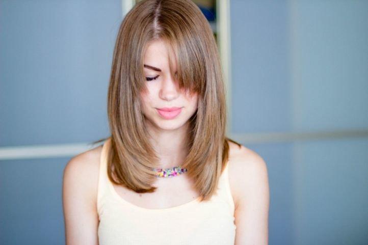 Каскадная стрижка для  тонких волос