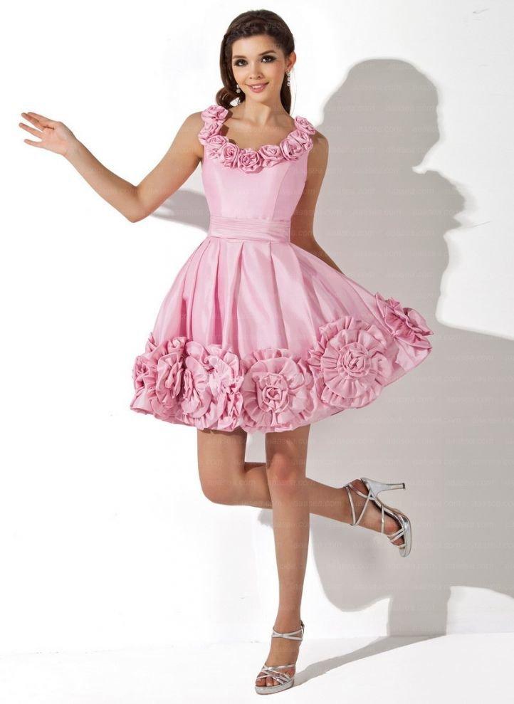Украсить платье цветами