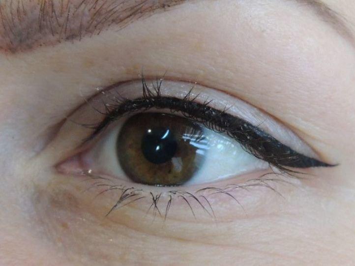 татуаж глаз стрелки фото